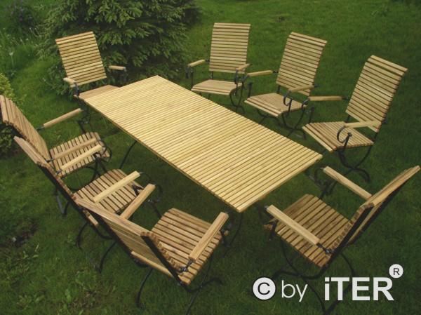 8 krzeseł , 1 stół 180  - kliknij, aby otworzyć w nowym oknie