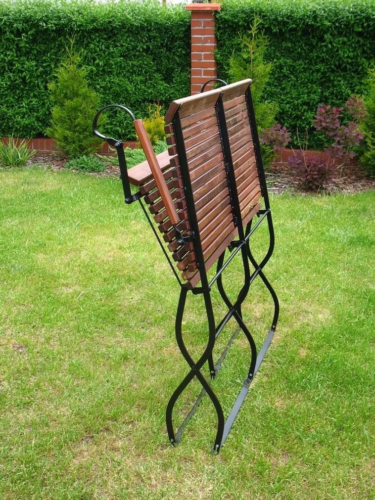 ITER - ławka ogrodowa z akacji parzonej - kliknij aby powiększyć