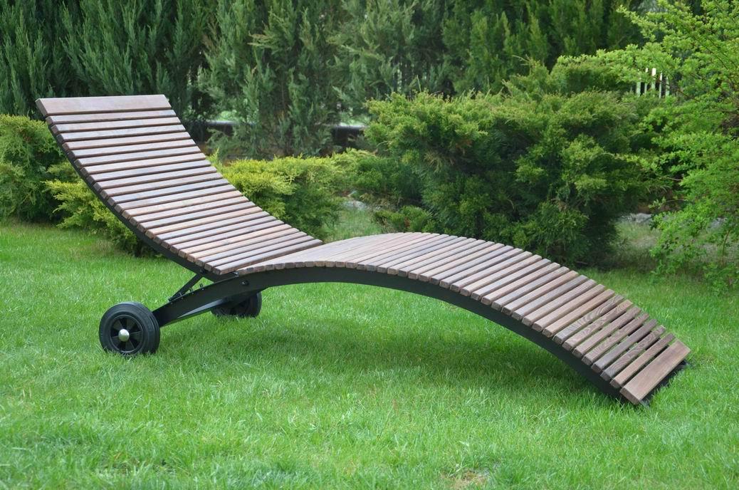 ITER - leżak ogrodowy z akacji - kliknij, aby powiększyć
